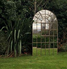 Aldgate Home garden window mirrors give that illusion of going beyond Garden Mirrors, Garden Windows, Window Mirror, Illusions, Restoration, Home And Garden, Outdoor Structures, Display, Architecture