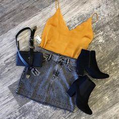 Fashion 2019 New Moda Style - fashion Teen Fashion Outfits, Cute Fashion, Stylish Outfits, Cute Outfits, Fasion, Womens Fashion, Spring Summer Fashion, Autumn Winter Fashion, Spring Outfits