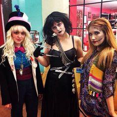 Tim Burton Halloween costume inspiration: Mad Hatter, Edward Scissorhands, and Sally. Buffalo Exchange Tucson (Campus)