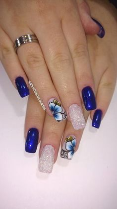 The Winter-Inspired Nail Art Designs are so perfect for winter holidays 2018 Hope they can inspire you and read the article to get the gallery AcrylicNails WinterNails CoffinNails JeweNails Cute Acrylic Nail Designs, Beautiful Nail Designs, Cute Acrylic Nails, Nail Art Designs, Acrylic Gel, Blue Nails, My Nails, Pretty Nails, Fancy Nails