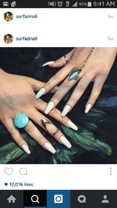 Ourfazinali on ig her nails are fab