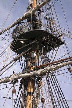 rigging on a tall ship