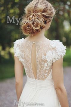 Custom Made White Lace Wedding Dresses Lace Bridal by mygirlsprom, $259.99 @Sara Johnson