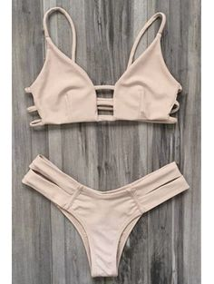 SHARE & Get it FREE | Caged Bandage Bikini Swimwear - Yellowish PinkFor Fashion Lovers only:80,000+ Items • New Arrivals Daily Join Zaful: Get YOUR $50 NOW!