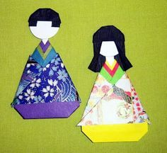 How to Make Origami Paper Dolls - Version One