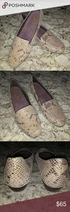 Clark's shoes --- NWOT Alligator leather upper, brand new, never worn. Perfect condition. No tags though. Clarks Shoes Flats & Loafers