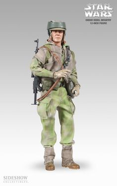 Figura Star Wars. Soldado Endor Rebel Infantry . Sideshow Collectibles