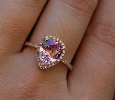 "Unique Engagement Rings | Different Diamonds: Unusual Engagement Rings | LDS Bride Blog [ ""Rose Gold pear cut pink diamond or padparadscha sapphire ring"", ""I think I found my ideal engagement ring"", ""I normally really don"
