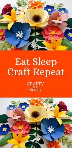 Eat Sleep Craft Repeat Yes! Most definitely! This is the way to live! Eating, Sleeping, doing some craft and then the next day, repeating it all again.For some of us this might be very much our daily life! Some of us have to just squeeze some craft in :) Easy Diy Crafts, Diy Craft Projects, Diy Crafts For Kids, Crafts To Sell, Home Crafts, Fun Crafts, Arts And Crafts, Paper Crafts, Paper Art