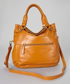 This Saddle Brown Holly Leather Crossbody is perfect! #zulilyfinds