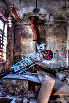 """""""Push Me Real Hard"""" Photograph by Stamatis Gr Abandoned Buildings, New Hampshire, East Coast, Athens, Attica Greece, Industrial, Wall Art, Photograph, Urban"""