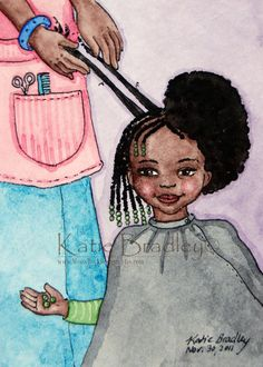 Cute illustration it's amazing how long an afro stretches when you give it a gentle pull Natural Hair Art, Pelo Natural, Natural Hair Journey, Natural Hair Styles, Natural Beauty, Natural Kids, Black Power, Twisted Hair, Afro Art