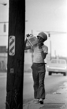 U.S. Teenager with radio. Charlotte, NC (1970s) // by Steve Perille.