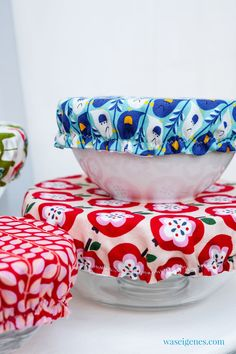 Sewing bowl hoods - environmentally friendly and sustainable - Covered and well protected: I sewed new bowl hoods. Creative Skills, Creative Food, Sewing Hacks, Sewing Projects, Diy Mode, Easy Sewing Patterns, Backyard Projects, Plant Design, Coco