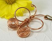 Butterfly hairpin copper wire wrapped spiral
