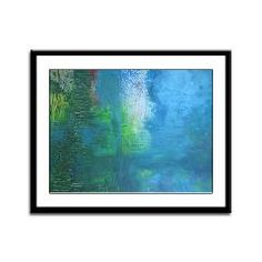 Abstract Landscape Expression Framed Panel Print> CARDS, POSTERS & PRINTS> 22FISH22 graphics and fine art