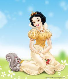 blancanieves vestida de princesa para imprimir