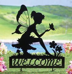 Fairy Welcome Garden Shadow Stake