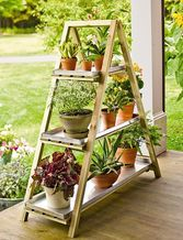 Wooden A-Frame Plant Stand (for cat tree) $89.95