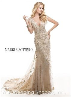White and Gold Wedding. Gold Bridesmaid Dress. Soft and Romantic. Maggie Sottero bridal gown Tuscany
