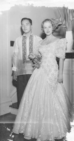 first miss universe armi kuusela and filipino virgilio gil hilario Finland Miss Philippines, Filipino Fashion, Miss Univers, Vintage Outfits, Vintage Fashion, Vintage Clothing, Philippine Women, Gents Fashion, Prom Queens