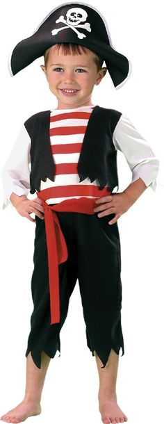 Toddler Pint Size Pirate Costume for Boys - Party City  sc 1 st  Pinterest : costume of pirates  - Germanpascual.Com