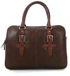 wardow.com - #JekyllHide, Woodstock 12'' Aktentasche mit Laptopfach Leder mud 37 cm #bag #autumn #fall #wardow