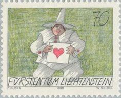 Sello: Clown (Liechtenstein) (Clown) Mi:LI 1176,Yt:LI 1117,Zum:LI 1118