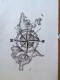 The Best Compass - Tattoo Ideas - - The best compass . - The Best Compass – Tattoo Ideas – – The best compass – tattoo idea - Compass Art, Compass Drawing, Best Compass, Compass Tattoo Design, Compass And Map Tattoo, Map Tattoos, Bild Tattoos, Body Art Tattoos, Sleeve Tattoos
