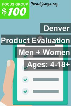Fieldwork Denver is looking for Men and Women 18+ and/or Children 4-17 to join us for an upcoming discussion on the topic of Product Evaluation [FOR Asthma or Chronic Obstructive Pulmonary Disease (COPD)]. We will pay $100 VISA CARD to those people who qualify and are invited to join us for a 1.5 hour discussion on Dates and times available from Monday, January 16th through Friday, January 20th. If interested please use this link