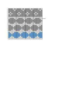 Maaliskuun neulottu Marimekko -tyyny Knitting Charts, Marimekko, Knitting Patterns, Diagram, Burberry, Toss Pillows, Socks, Tricot, Knit Patterns