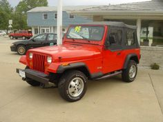 1995 Jeep Wrangler.  Banana yellow with great wheels.  What a terrible car.  Luckily my dad took it off my hands.