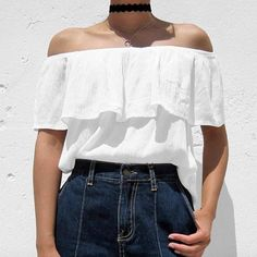 Off the shoulder everything + black chokers all summer 16  with @cphraph. http://www.2020ave.com/collections/off-the-shoulder?utm_source=soldsie&utm_medium=referral&utm_campaign=160501_offtheshouldercollection