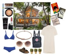 """Weekend get away"" by ecodlingnrj ❤ liked on Polyvore featuring Fjällräven, Birkenstock, Linda Farrow, James Perse, Proenza Schouler, Nearly Natural, MAC Cosmetics, Stila, Estée Lauder and Urban Decay"