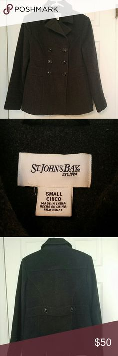 Selling this St Johns Bay wool Pea Coat on Poshmark! My username is: earthyelements. #shopmycloset #poshmark #fashion #shopping #style #forsale #St. John's Bay #Jackets & Blazers