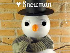 Muñeco de nieve casero