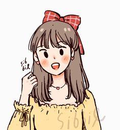 """""""💜🤍 💛💚"""" Cartoon Art Styles, Cute Art Styles, Cartoon Girl Drawing, Girl Cartoon, Cute Couple Drawings, Cute Drawings, Girl Drawings, Arte Indie, Character Art"""