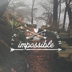 Inspirational quotes - It's kind of fun to do the impossible (Walt Disney) Great Quotes, Quotes To Live By, Me Quotes, Inspirational Quotes, Typography Quotes, Typography Design, Typography Served, Pretty Words, Beautiful Words