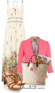 maxi dress with blazer outfit bmodish