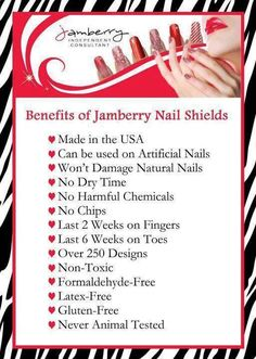 Benefits of Jamberry Nails!  Latex Free, Gluten Free, Non-toxic and Made in the USA!  Manicure in under 15 minutes?  You betcha!  www.LoveTheNails.com