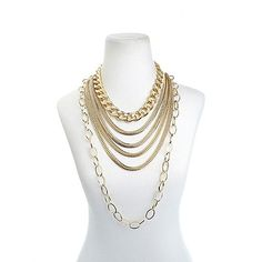 """Mix, match and layer this R.J. Graziano """"Go Luxe"""" All-Metal Link Necklace set!"""