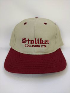 8792e011625fe Vintage Trucker Hat Stoliker Collision Ltd Baseball Cap Retro Vintage  Kitchener Ontario Trucking Collectible Auto Repair 1980s 1990s Canada
