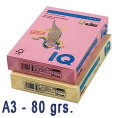 Papel de colores en delicados tonos pastel.  Idóneos para impresión inkjet, láser y fotocopias de la más alta calidad.  Paquete de 500 hojas A3 de 80 grs.  Color: Salmón