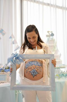 Baby Shower PORQUE NO PINTADA LA PANZA EN EL BABY SHOWER!!