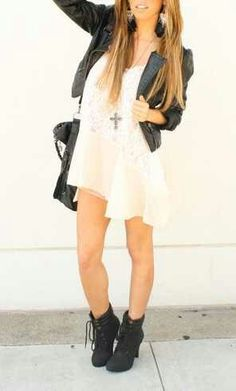 Cute Rock Look. Teen Fashion. By- Lily Renee♥ (iheartfashion14)