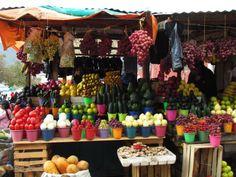 Puesto de frutas en Mazunte, Oaxaca (México)