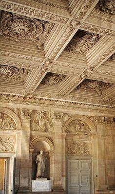 Interior architectural details at the Chateau de Versailles, Paris. Beautiful Architecture, Beautiful Buildings, Art And Architecture, Architecture Details, Beautiful Places, Chateau Versailles, Palace Of Versailles, Luís Xiv, Ville France