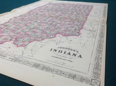 A personal favorite from my Etsy shop https://www.etsy.com/listing/258145747/1864-indiana-antique-county-map-lake