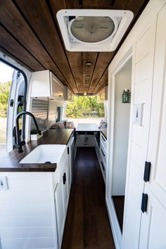 Get a tour of our 2019 170 WB Sprinter van build (incuding a full bathroom!), plus learn our van conversion cost, mistakes we made, and products we used! Van Conversion Interior, Camper Van Conversion Diy, Sprinter Conversion, Van Conversion Cabinets, Motorhome, Cheap Van, Diy Van Conversions, Build A Camper, Saint Nazaire