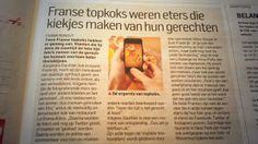 Franse topkoks willen niet meer dat je foto's maakt van eten.Alleen maar lekker genieten.Algemeen Dagblad 14 februari 2014